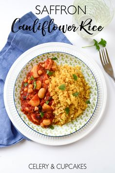 A low carb alternative to serve with your curries or stews with a golden hue from the saffron.