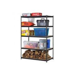 Steel Storage Rack 5 Adjustable Shelves 4000 lb Capacity #Edsal #steelstoragerack