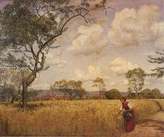 Cornfield in Oberursel, Summer - Hans Thoma - 1902