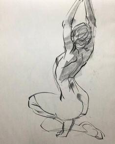 Life drawing figure study
