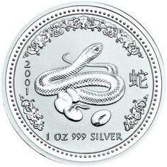 2001 series 1 - Australian Silver Lunar Snake Bullion Coin
