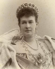 "The ""Vladimir Tiara,"" worn by its original owner,the Grand Duchess Maria Pavlovna Romanova of Russia (the Elder). ""AL"""