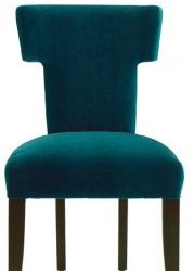I own nothing blue but my car, but I am somehow drawn to deep teal/peacock blue chairs lately.