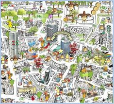 Maps of Tel Aviv – Tourists in Israel Tel Aviv, Walking Map, Sea Of Galilee, Tourist Map, Treasure Maps, Artist Gallery, Historical Maps, Visual Communication, Cartography