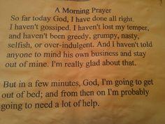 A morning prayer.