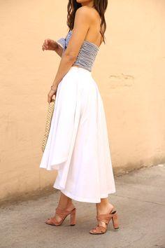 Summer Style - Midi Skirts + Mules Andee Layne - The Honeybee