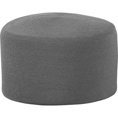 Crocheted Graphite Outdoor Pouf in Outdoor Seating   Crate and Barrel $149