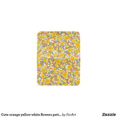 Cute orange yellow white flowers patterns card holder Bus Pass, Card Patterns, Orange Yellow, Card Wallet, Party Hats, White Flowers, Hand Sewing, Two By Two, Art Pieces
