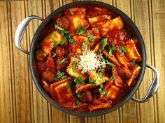 Quick Ravioli with Sausage Meatballs | Miss in the Kitchen/ #Ravioli/ #Kuchnia włoska