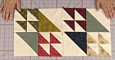 I Never Realized How Simple This Classic Flock Of Geese Block Was!   Uses 1 solid layer cake and 1 print layer cake