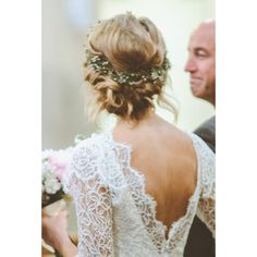 Braided Coronet Wedding Hairstyle ❤ liked on Polyvore featuring accessories, hair accessories, hair, wedding, pics, hairstyles and makeup