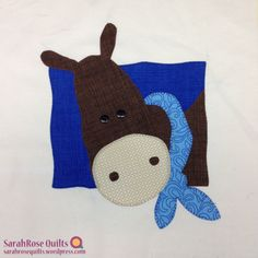 Animal Whimsy Block of the Month - SarahRose Quilts | Applique quilt block