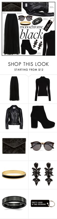 """""""The Sweetest Dark"""" by piloariass ❤ liked on Polyvore featuring Needle & Thread, Misha Nonoo, Acne Studios, ALDO, Rebecca Minkoff, Illesteva, Halcyon Days and Various Projects"""