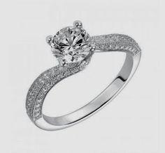 Pretty twist engagement ring.