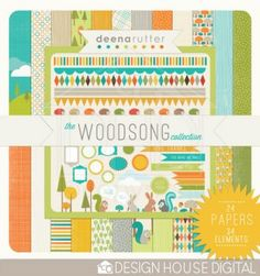 In love with the colors, the cute little elements, the borders...so my type of designing.