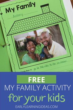 Find activities and ideas for your My Family or All about Me theme unit or lesson plans in your preschool or pre-k classroom.  Kids can draw pictures or add a photo of their family on this free printable activity sheet.  Use as a take-home activity to get parents involved.  Display on the bulletin board or bind all your students' pages together to make a class book to share at circle time or leave in your class library.  Use at Thanksgiving or during the first week too. Phonemic Awareness Activities, Language Activities, Classroom Activities, Family Activities, Classroom Ideas, Class Library, Class Books, Family Board Preschool, Displaying Family Pictures