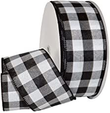 Buffalo Plaid ribbon by the roll. 50 yards Black and white buffalo plaid ribbon. Farmhouse ribbon by the roll. Farmhouse Christmas Ornaments, Ribbon On Christmas Tree, Christmas Wreaths To Make, Cool Christmas Trees, Christmas Tree Toppers, How To Make Wreaths, How To Make Bows, Christmas Projects, Make And Sell