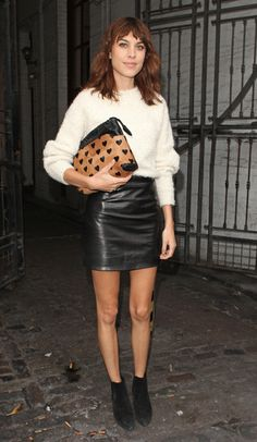 Leather Skirt And Jumper
