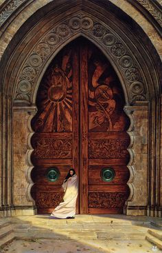 The Doors of Obernewtyn. Painting by Donato Giancola.
