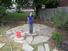 DIY Flagstone patio--good tips for laying crusher and sand