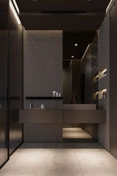 This washroom layout consists of simpleness, practice, modernity, simpleness, modernity and even high-end. All recommended for those that intend to dream in the house in the restroom Bathroom Tile Designs, Bathroom Design Luxury, Bathroom Ideas, Bathroom Layout, Bath Design, Casa Kardashian, Dark Bathrooms, White Bathroom, Farmhouse Bathrooms