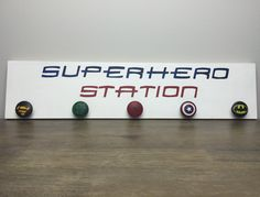 Superhero Wooden Sign, Boys Room Sign, Wooden Signs for Boys, Boys Room Decor, Superhero Coat Rack by SugarMapleLane on Etsy