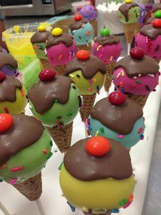 Icecream cakepops by New York Cake Pops