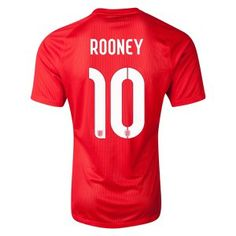 Rooney 2014 World Cup Away Soccer Jerseys England Football