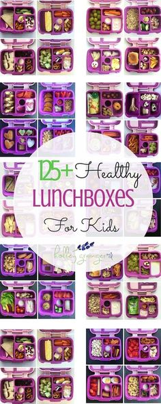 125 Healthy Lunchboxes for Kids by Mommy and Registered Dietitian Holley Grainger