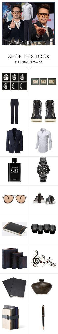 """""""RDJ ♥"""" by asia-12 ❤ liked on Polyvore featuring Tom Ford, Yves Saint Laurent, Lands' End, Giorgio Armani, Versace, G-Star Raw, Midori, Eichholtz, Dot & Bo and Benzara"""