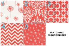 Curtains- Pair of Drapery Panels Premier Prints Coral by Modernality2. , via Etsy.