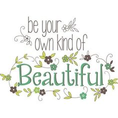 Brewster WPQ0809 Be Your Own Kind Of Beautiful Wall Quote (Vinyl)