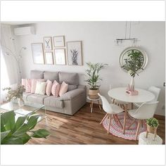 cool and fun living room decor to give family love in your lap Interior Design Living Room, Living Room Designs, Small Living Rooms, Simple Living Room Decor, Living Dining Combo, Living Room Inspiration, Home Decor Styles, Bedroom Decor, Small Apartment Design