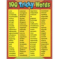 Trend Enterprises 100 Tricky Words Learning Chart Piece), x Learn 100 commonly misspelled words. Increases students' vocabulary and comprehension. Extra Value: Reproducible on back. English Vocabulary Words, English Words, English Grammar, English Phonics, Vocabulary List, English Writing Skills, English Lessons, Learn English, Learn Spanish