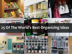 25 Of The World's Best Organizing Ideas...Scarf holder can be easily made by taking a coat hanger and clipping  shower curtains on the cross bar ..so simple.....so useful