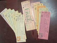 Rare 12 pcs 1930's 40's Market street Railway Transfers #'s 1234567,7A,8,9,10,11 | eBay
