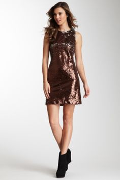 W118 by Walter Baker Bronze and Silver Sequin Party Dress, Large, $65.00CAD + shipping (Reg. $248.00) http://stylenstuff.ca/products/w118-by-walter-baker-bronze-and-silver-sequin-party-dress-large