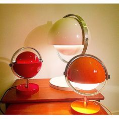 Look at this trio - cool Moon light designed by danish Brylle & Jacobsen