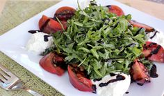 Double-Dressed Arugula & Burrata Salad