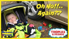 CARELESS DAD Crushes Thomas The Train Under Car, Percy James Crushed Und...