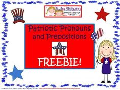 FREEBIE:+Patriotic+Pronouns+and+Prepositions+from+Twin+Speech,+Language+