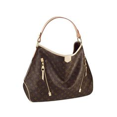 Louis Vuitton Delightful GM Brown Totes #LouisVuitton #Handbags