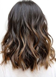 black hair balayage
