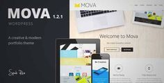 Download and review of Mova - Wordpress Theme for creative minds, one of the best Themeforest Creatives themes