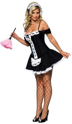 Be a cute french maid by wearing this dust bunny costume. Perfect for Halloween or costume themed parties this costume comes with a dress and headpiece. Maid Halloween, Bunny Halloween Costume, Adult Halloween, Halloween Party, Spirit Halloween, Costume Sexy, Costume Dress, French Maid Costume, Sexy Costumes For Women