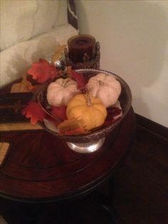 Dollar tree fall pumpkins and leaves.