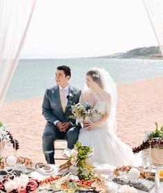Multicultural Destination Wedding in Barcelona - Sofreh Aghd Wedding Planner, Destination Wedding, Persian, Barcelona, Sea, Wedding Dresses, Wedding Planer, Bride Dresses, Bridal Gowns