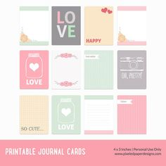 Free printable journal cards - Valentine ⊱✿-✿⊰ Join 4,200 others & follow the Free Digital Scrapbook board for daily freebies. Visit GrannyEnchanted.Com for thousands of digital scrapbook freebies. ⊱✿-✿⊰
