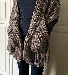 EASY Womens Scarf Pattern, Crochet Wrap Pattern Easy, Boho Crochet Shawl with Po. Crochet Wrap Pattern, Easy Crochet Patterns, Crochet Stitches, Crochet Poncho, Crochet Ideas, Cowl Patterns, Crochet Vests, Crochet Edgings, Crochet Shirt