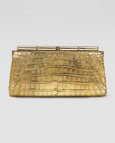 Judith Leiber  Aurelie Croc Clutch Bag_  $7995.00